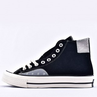 Converse Chuck 70 High-Top Quad Rips Suede High Sneakers Black