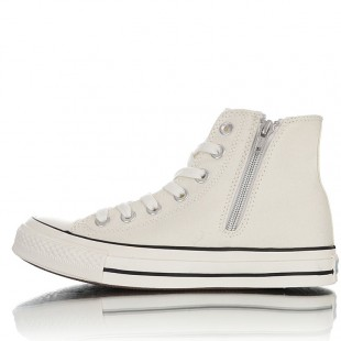 Converse Embroidered Floral Side Zip High Top White