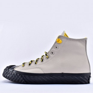 Converse Gray Bosey Water-repellent Chuck 70 High Tops Leather Shoes