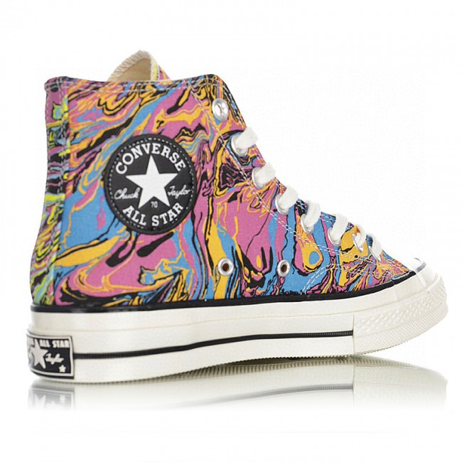 Converse Multicolor Marble Chuck 70 High Sneakers