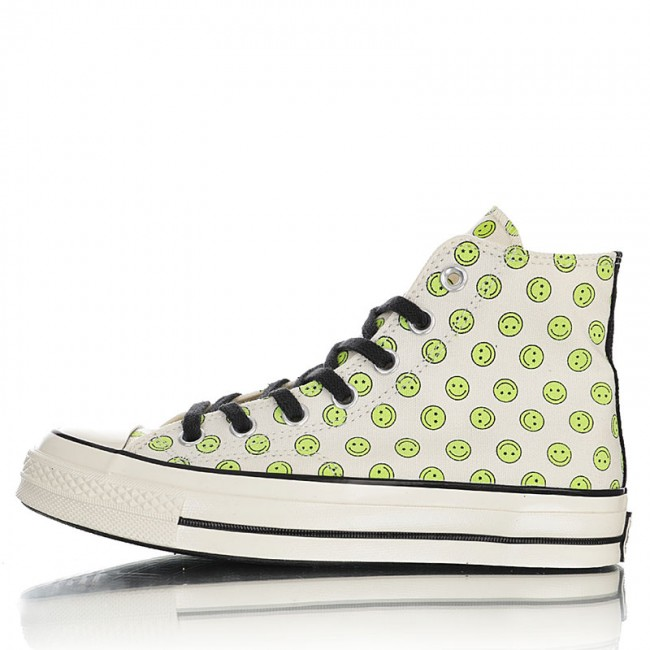 Converse Off-White Green Happy Camper Chuck 70 High Sneakers