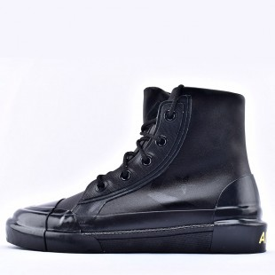 Converse x Ambush High Top Black Leather Sneakers