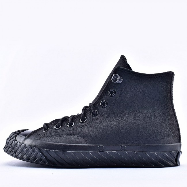 Unisex Bosey Water-Repellent Converse Chuck 70 Black Leather High Top