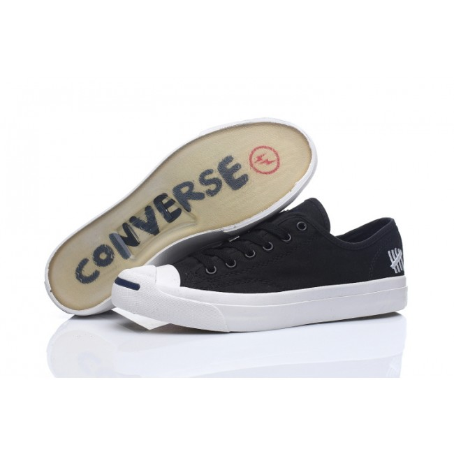 Converse Jack Purcell Classic Low Top Black Canvas Transparentes Shoes