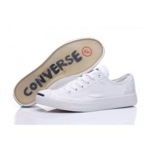 Converse Jack Purcell Classic Low Top White Canvas Transparentes Shoes