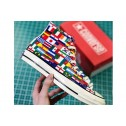 2018 Hot Converse FIFA World Cup Flags Chuck Taylor Colorful High