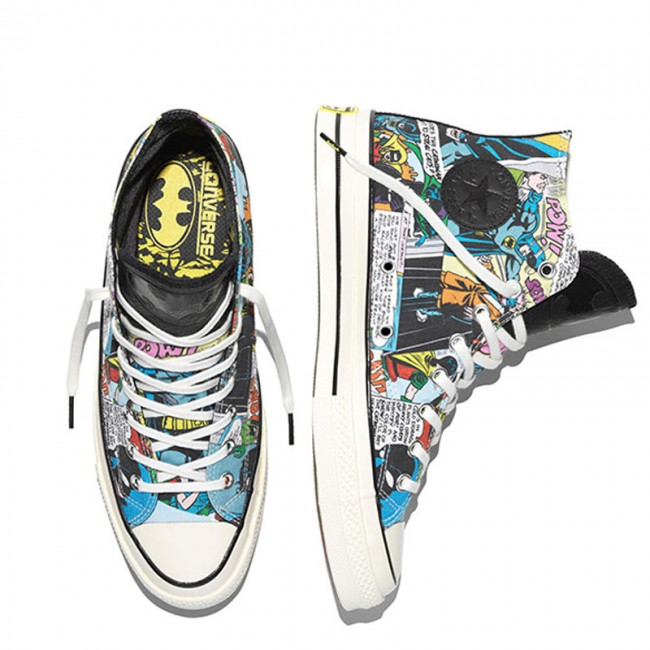 b3b6c1a6fb0b ... New Converse Chucks All Star Hi Top 70 DC Comics Batman Black 155359C  ...