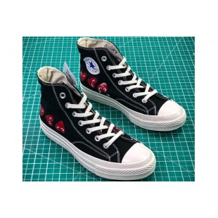 CDG PLAY x Converse Chuck Taylor Material OX Addict Vibram Black High All Star Chucks