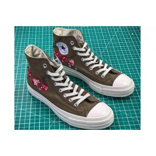 CDG PLAY x Converse Chuck Taylor Material OX Addict Vibram Brown High All Star Chucks