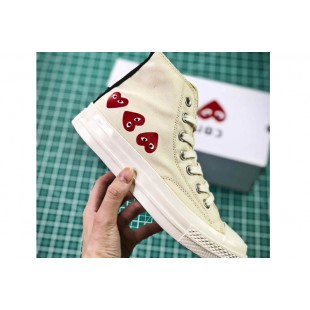 CDG PLAY x Converse Chuck Taylor Material OX Addict Vibram White High All Star Chucks