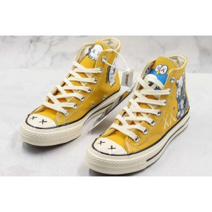 CONVERSE X KAWS X Chuck 70 High Top 162054C Yellow