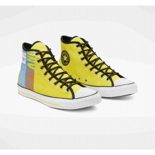 Chuck Taylor All Star Get Tubed Converse High Top Fresh Yellow Black White 164092F Shoes