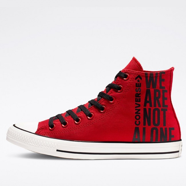 Converse Chuck Taylor All Star We Are Not Alone High Top Enamel Red Black White 165467C