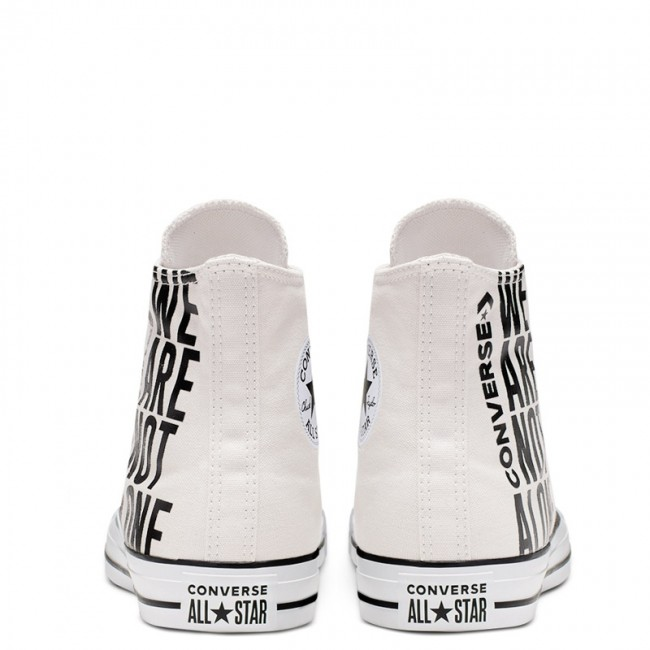 Chuck Taylor All Star Converse We Are Not Alone High Top PALE PUTTY BLACK WHITE 165468C