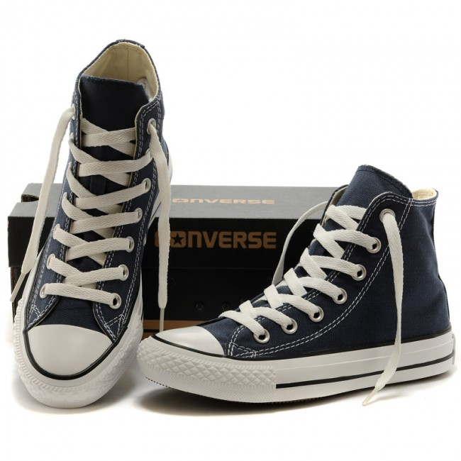 Classics Chucks All Star Blue Navy High Top Canvas Sneakers