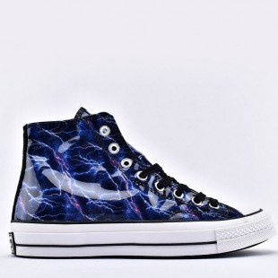 Converse 1970S Design Blue Purple Galaxy Stars High Top Canvas Shoes