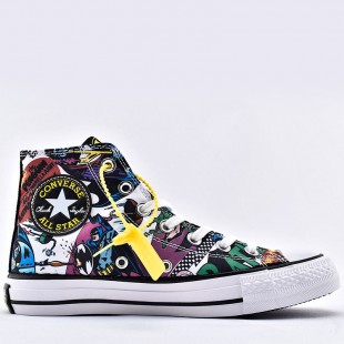 Converse 80th anniversary of Batman White Black Multi All Star Unisex High Top Shoes 167303C