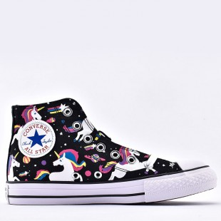 Converse Unicons Shooting Stars Chuck Black White Canvas Sneaker