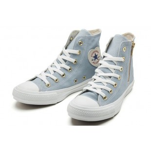 Converse ALL STAR HEARTPATCH Zip Heart Casual Style Plain Blue High
