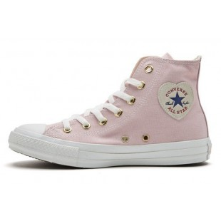 Converse ALL STAR HEARTPATCH Zip Heart Casual Style Plain Pink High