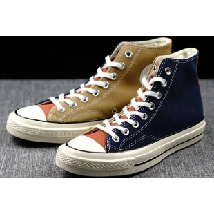 Converse All Star Chucks 1970s Assorted Colors Blue Khaki High Suede Sneakers
