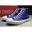 Converse All Star Chucks 1970s NBHD Patch & Darn High Blue Shoes