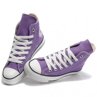 Converse All Star High Tops Classic Purple Canvas Sneakers Outlet