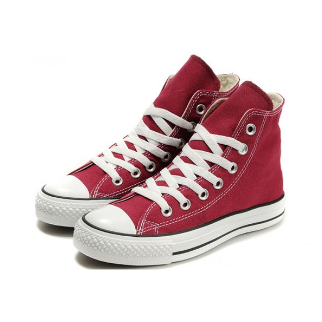 Converse All Star High Tops Lovers Classic Canvas Sneakers Maroon