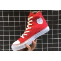 Converse All Star HEART PATCH High Casual Red Canvas Chucks Sneakers