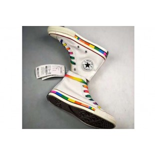 Converse Chuck 1970S Rainbow Limited White Canvas High Tops
