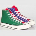 Converse Chucks All Star 1970s Hi Nightshade Red-Green Tri-Color Sneakers