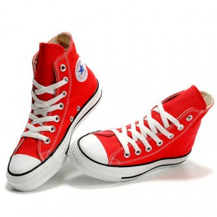 Classic Chucks All Star High Top Red Canvas Sneakers