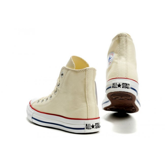 Classic Converse Chuck Taylor All Star High Top Unbleached White Canvas Sneakers