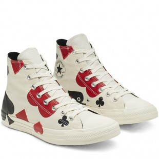 Converse Chuck Taylor All Star Queen of Hearts White High Top