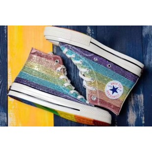 Converse Pride Miley Cyrus 1970s Rainbow Chuck Taylor All Star High