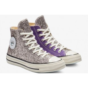 Converse x Chiara Ferragni Paillette Big Eyes Purple Chuck Taylor 70 Hi All Star
