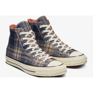 Converse x Chiara Plaid Blue Retro Chuck Taylor 70 Hi All Star