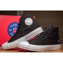 Converse x Colette x Club 75 All Star Black High Suede Sneakers