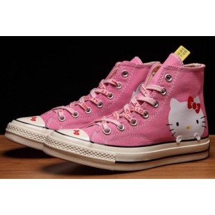 Converse x Hello Kitty 1970s Chuck Taylor All Star Pink Canvas High