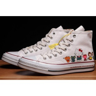 Converse x Hello Kitty 1970s Chuck Taylor All Star White Canvas High