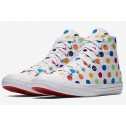 Converse x Miley Cyrus All Star Chuck Taylor Rainbow Polka Dot White High