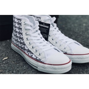 Fear of God x Converse All Star Casual White Canvas Chucks High Sneakers