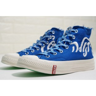 KITH x Coca Cola x Converse Chuck Taylor All Star 1970s Blue Platforms High