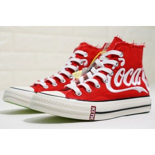 KITH x Coca Cola x Converse Chuck Taylor All Star 1970s Red Platforms High