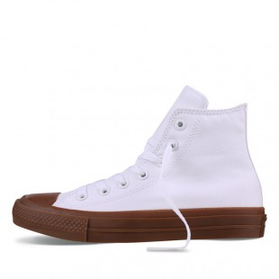 Monochrome Converse All Star Chucks II Gum White High Top Canvas Sneakers