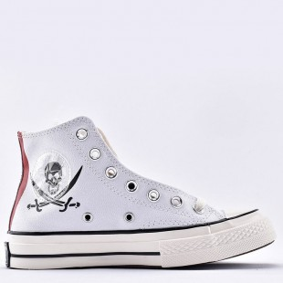 One Piece Hand Painted Shoes Design White Converse All Star Hi Sneakers