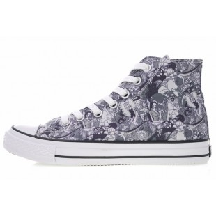 One Piece x Converse All Star 100 MC OX Comics Black White High