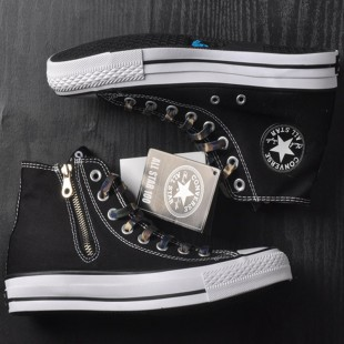 SOPHNET. x Converse Chucks All Star 100 Zip Up High Tops Black Canvas Sneakers