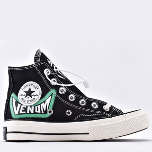 Unisex Converse All Star Venom Carnage High Tops Painted Canvas high top sneaker