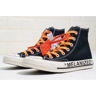 Virgil Abloh THE TEN Off-White x Converse GHOSTING Melanized Black Chucks High